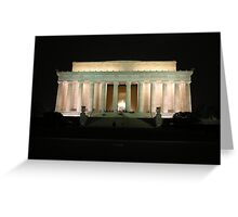 light on lincoln Greeting Card