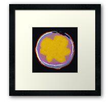 Yellow Flower on Black Background Framed Print