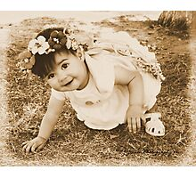 The Flower Fairy In A Game Of .........Ready ,Set ,Go! Photographic Print