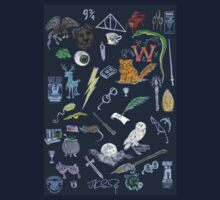 Whimsical Harry Potter in Color T-Shirt