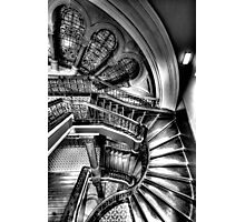 The Grand Staircase (Monochrome) - QVB - The HDR Experience Photographic Print