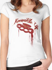KNUCKLE UP Women's Fitted Scoop T-Shirt