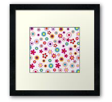 Cheerful Floral Framed Print