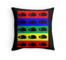 Multi Pop Art Kitty Throw Pillow