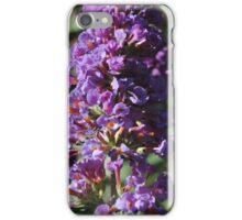 Purple Stalk Flowers iPhone Case/Skin