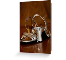 Bridal shoes Greeting Card
