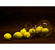 Spilled Lemons Photographic Print