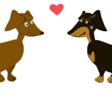 Dachshund Love Sticker