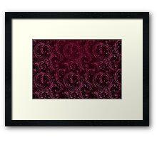 Purple Swirls Framed Print