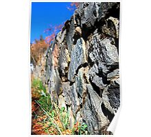 rock wall, looking north Poster