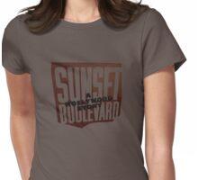Sunset Blvd 2b Womens Fitted T-Shirt