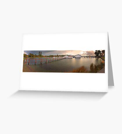 Mosman Bay Boatsheds - Western Australia  Greeting Card
