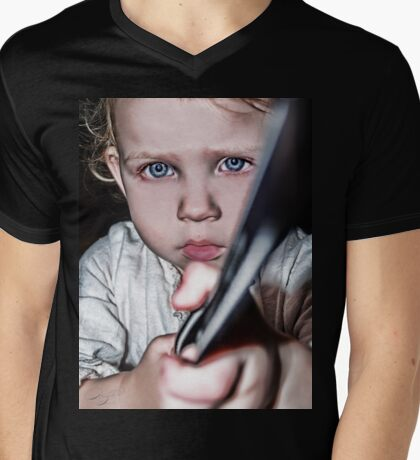 #Hold On Kiddo Mens V-Neck T-Shirt