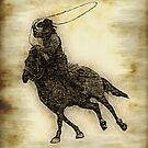 Rodeo Cowboy Steer Roper by NaturePrints