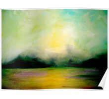 Landscape..Softly as in a Morning Sunrise Poster