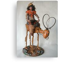 Nightrider - art doll sculpture Canvas Print