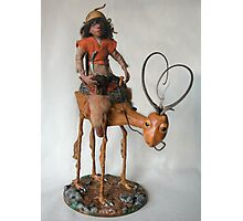 Nightrider - art doll sculpture Photographic Print