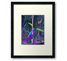 Grass & Fence Combo Framed Print