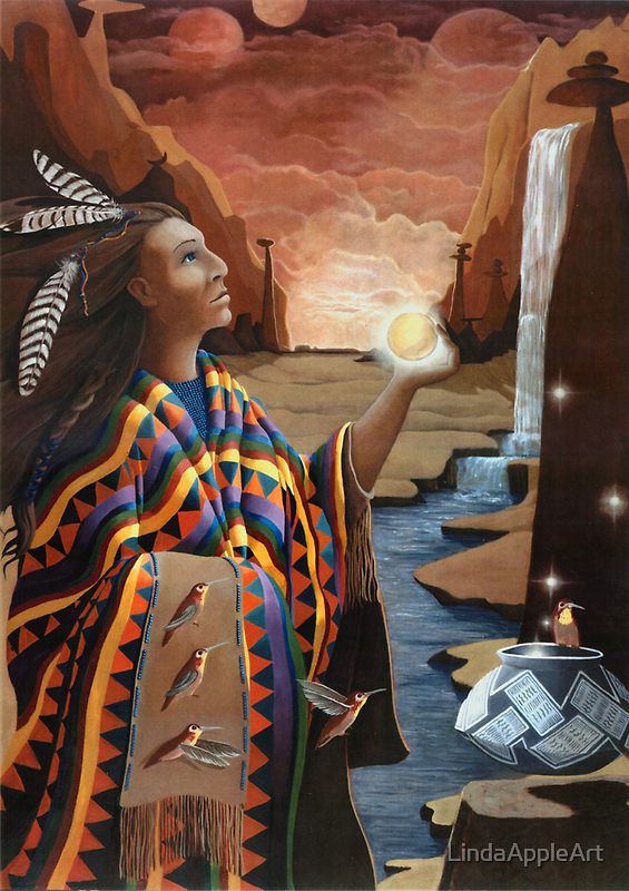 Earthgate -spiritual oil painting by LindaAppleArt