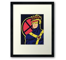 X-Men vintage Cyclops 1990s  Retro Framed Print