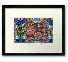Rainbow Fractal Bubbles Framed Print