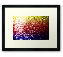 Rainbow Glitter Framed Print