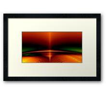 Fractal Sunrise Framed Print