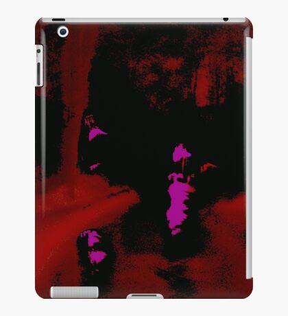Abstract Red Landscape at Night iPad Case/Skin