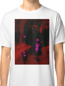 Abstract Red Landscape at Night Classic T-Shirt