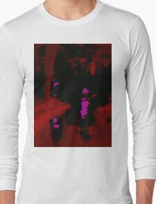 Abstract Red Landscape at Night Long Sleeve T-Shirt