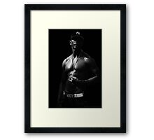 NY Physique - Black and White Framed Print