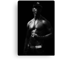 NY Physique - Black and White Canvas Print