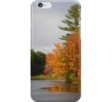 Fall Along the Little Androscoggin River - Please View Large iPhone Case/Skin