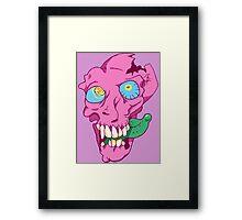 Bubblegum Skull Framed Print