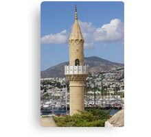 Bodrum Minaret & Harbour  Canvas Print