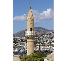 Bodrum Minaret & Harbour  Photographic Print
