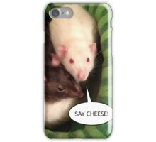 Rats Say Cheese! iPhone Case/Skin