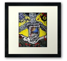 Drummer's Heart Beats Out of the Box Framed Print