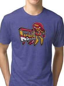 Sneaky Mascot Tag Tri-blend T-Shirt