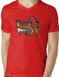 Sneaky Mascot Tag Mens V-Neck T-Shirt