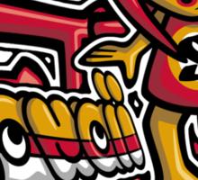 Sneaky Mascot Tag Sticker