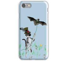 Steampunk Kitty Flying A Bat iPhone Case/Skin