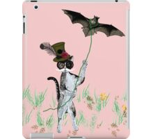 Steampunk Kitty Flying A Bat iPad Case/Skin