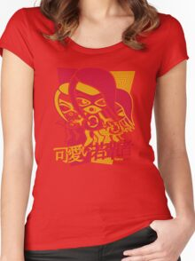 Sneaky Mascot Stencil Women's Fitted Scoop T-Shirt
