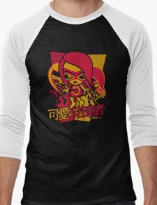 Sneaky Mascot Stencil Men's Baseball ¾ T-Shirt