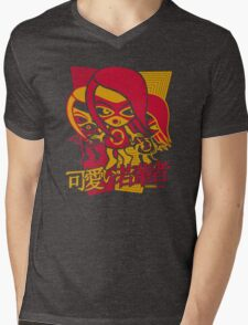 Sneaky Mascot Stencil Mens V-Neck T-Shirt