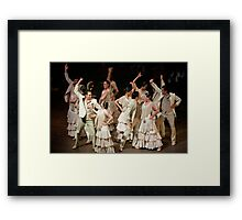 Flamenco Dance Troupe Framed Print