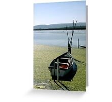 Small boat on the pond Greeting Card