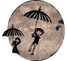 Baudelaire Umbrellas Photographic Print