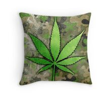 Weed Leaf Throw Pillow